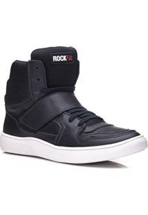 eebb9fbd926 11x R 20.9 Ir para a loja  Tênis Rockfit Queen Em Couro Preto