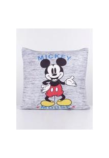 Almofada Com Capa Disney Cinza/Preto