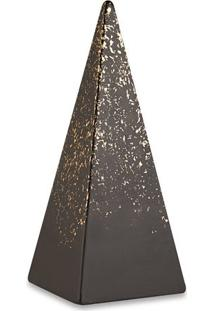 Escultura Decorativa- Preta & Dourada- 26X10,5X10,5Cmart