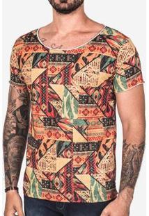 Camiseta Hermoso Compadre Étnica Gola Canoa Masculina - Masculino