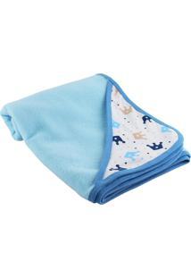 Cobertor Para Beb㪠Lovatinho Em Soft Corã´A Azul Claro