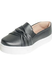 Tenis Hope Shoes Slipper Com Laço Cruzado Preto - Kanui