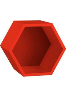 Nicho Hexagonal Mdf Favo Maxima Vermelho