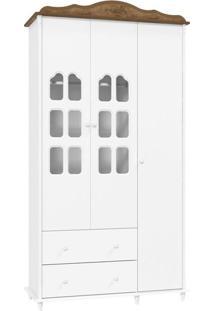 Guarda Roupa Infantil Provence 3 Portas Branco Acetinado Teka Touch – Matic
