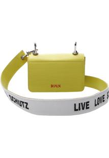 Bolsa Clutch Listrada- Amarelo Neonschutz