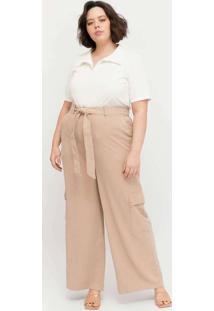 Calça Pantalona Almaria Plus Size Pianeta Utilitár