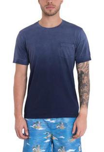 Camiseta Timberland Washed Denim Masculina - Masculino-Azul
