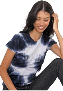 Camiseta Aeropostale Lettering Branca/Azul