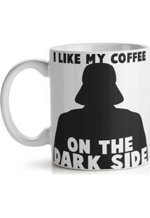 Caneca Geek Side - Dark Side Coffee Geek10 Branco