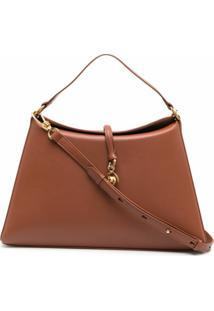 Nanushka Curved Shoulder Bag - Marrom