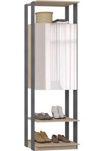 Guarda-Roupa Closet 2 Portas Com Espelho 70 Cm Carv Mel/Espress - Bentec