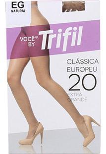 Meia Calça Trifil Fio 20 Europeu Feminina - Feminino-Bege