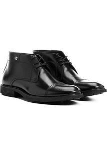 Bota Couro Shoestock Recortes Masculina
