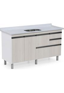 Gabinete Para Cozinha 150Cm Mdp 15Mm Coliseu Palissandro Ártico 144,2X69,5X49,5Cm - Rorato - Rorato