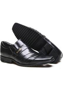 Sapato Social Couro Calvest Masculino - Masculino-Preto