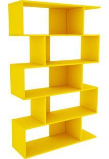 Estante Twister C/ 4 Pés Amarelo Tcil Móveis