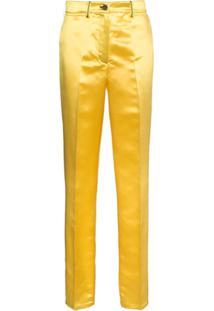 Calvin Klein 205W39Nyc Calça Reta - Amarelo