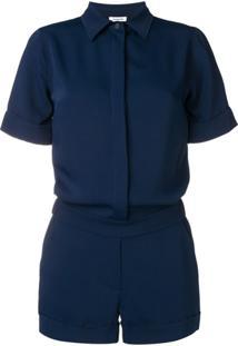 P.A.R.O.S.H. Short-Sleeved Playsuit - Azul