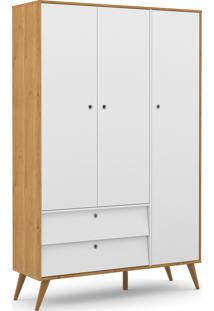 Roupeiro 3 Portas Gold Freijã³/Branco Soft/Eco Wood Matic Mã³Veis - Branco - Dafiti
