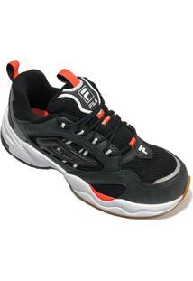 Tênis Fila Attrek Footwear Masculino - Preto E Laranja - 44 - Masculino