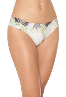 Calcinha Live! Tanga Butterfly Horizon Off-White/Verde