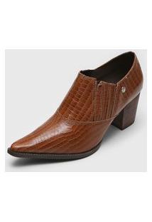 Ankle Boot Bottero Croco Caramelo
