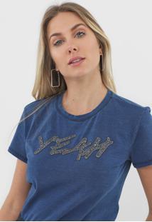 Camiseta Morena Rosa Yeah Azul - Kanui