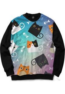 Blusa Bsc Cat Fish Full Print - Masculino