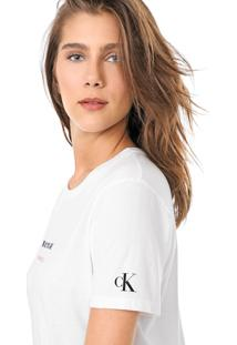 Blusa Calvin Klein Jeans Lettering Branca - Kanui