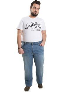 Calça Jeans Levi'S Plus Size 501 Original Big & Tall Masculina - Masculino-Azul
