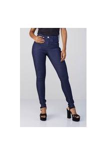 Calça Jeans Feminina Osmoze Skinny Linhaz 6001100183 Azul Escura