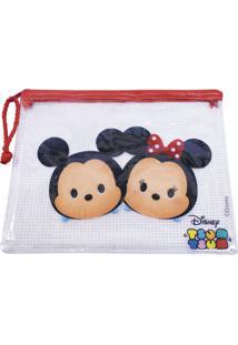 Necessaire Minas De Presentes Mickey Minnie Tsum Tsum Branco
