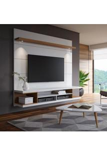 Painel Para Tv 60 Polegadas Axel Branco Gloss E Natural 181 Cm