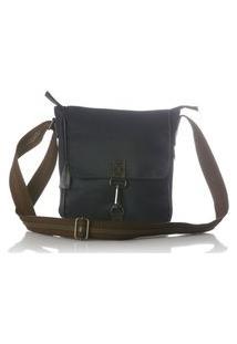Bolsa Blue Bags Transversal Com Tampa Azul Marinho