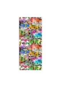 Adesivo Decorativo De Porta - Grafite - 046Pt-P Auto Colante