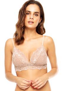 Sutiã Calvin Klein Underwear Triângulo Renda Nude