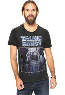Camiseta John John Talkin Preta