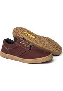 Tênis Embora Footwear Vortex Masculino - Masculino-Vinho+Bege
