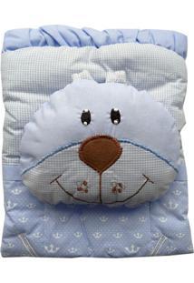 Capa De Carrinho Com Travesseiro Bruna Baby Reino Azul
