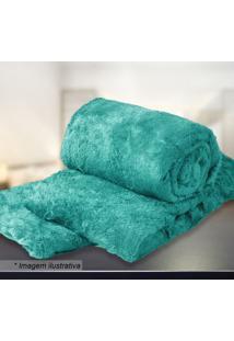 Manta Microfibra Casal- Azul Turquesa- 180X205Cmsultan