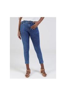 Calça Jeans Hot Pants Sawary Feminina Azul
