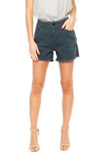 Bermuda Sarja Calvin Klein Jeans Puídos Azul