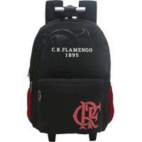 59758a814 Mochila Com Rodas Flamengo Preta Fut Fanatics