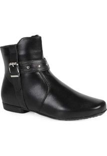 Ankle Boots Feminina Mooncity Fivela Preto
