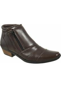 Bota Country Casa Do Sapato Lisa - Masculino-Marrom