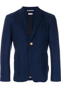 Thom Browne Blazer Com Abotoamento - Azul