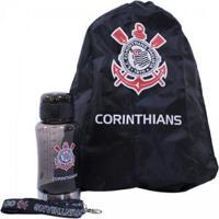 ad753b9029 Kit Garrafa 500Ml+Mochila Tipo Saco Corinthians - Unissex Netshoes