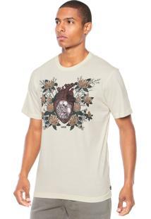 Camiseta Mcd Skull Eart Bege