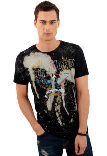 Camiseta John John Rg Eagle Stains Malha Cinza Masculina (Cinza Chumbo, P)