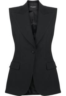 Dolce & Gabbana Colete Com Abotoamento Simples - Preto